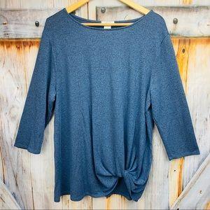NWOT MATTY M Twist Front Sweater Top